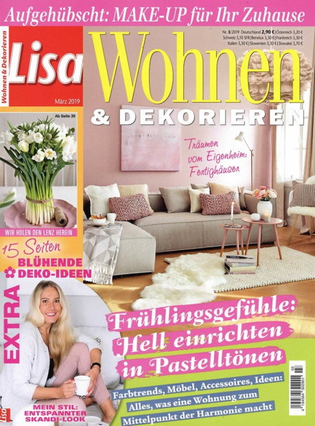 Lisa Wohnen & Dekorieren im Abo - aktuelles Zeitschriftencover